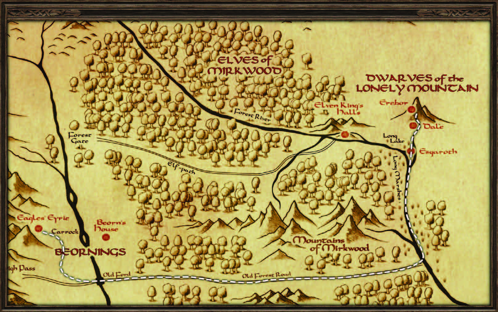 The dwarves map