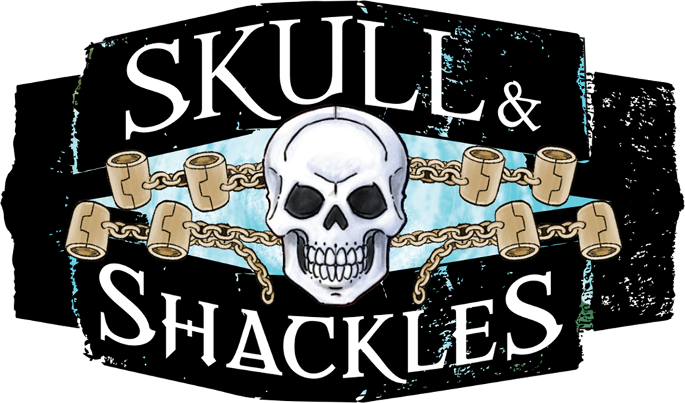 10 skull and shackles