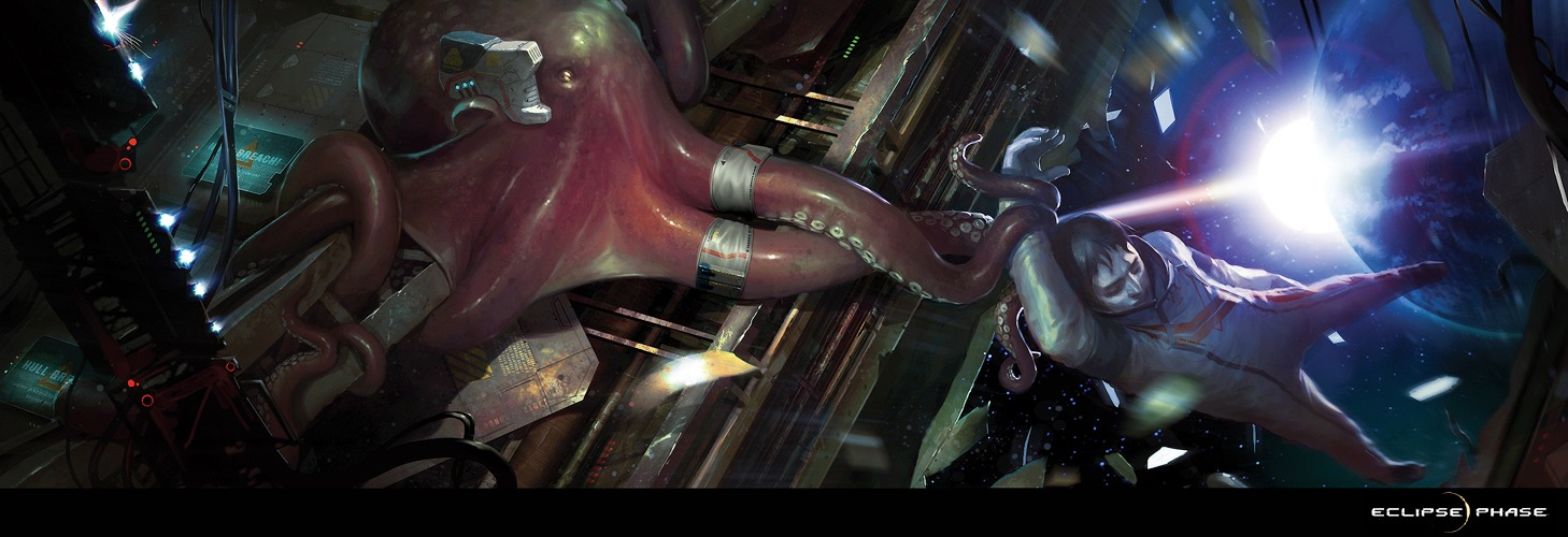 Helping hand 2d sci fi creature octopus space picture image digital art