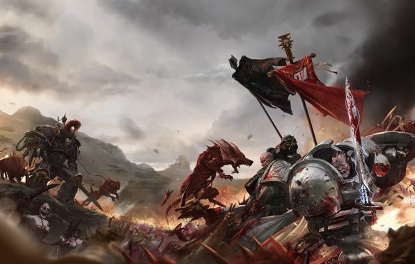 Azrael banner black legion