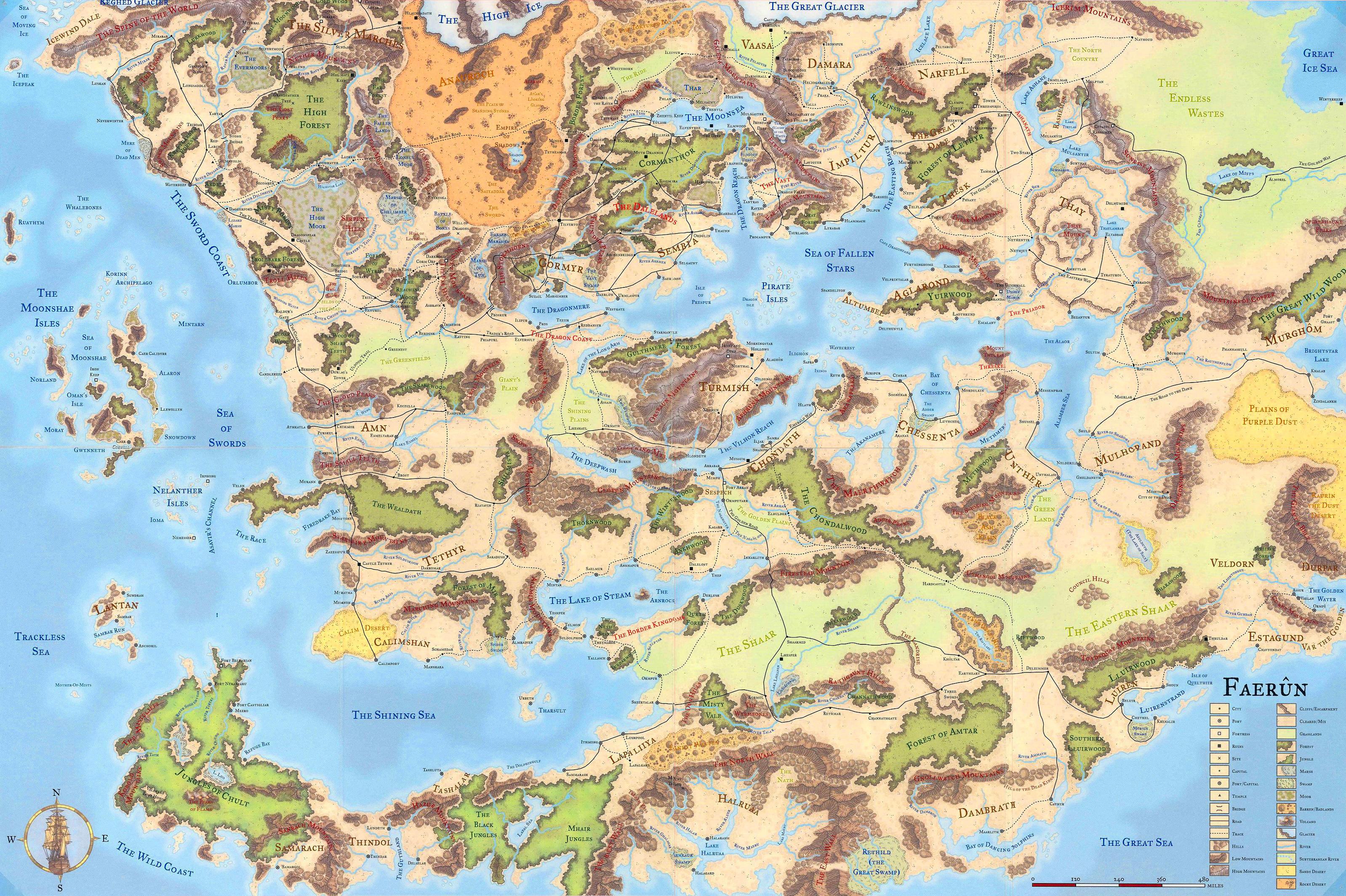 Faerun Map Dnd 5e Obsidian Portal