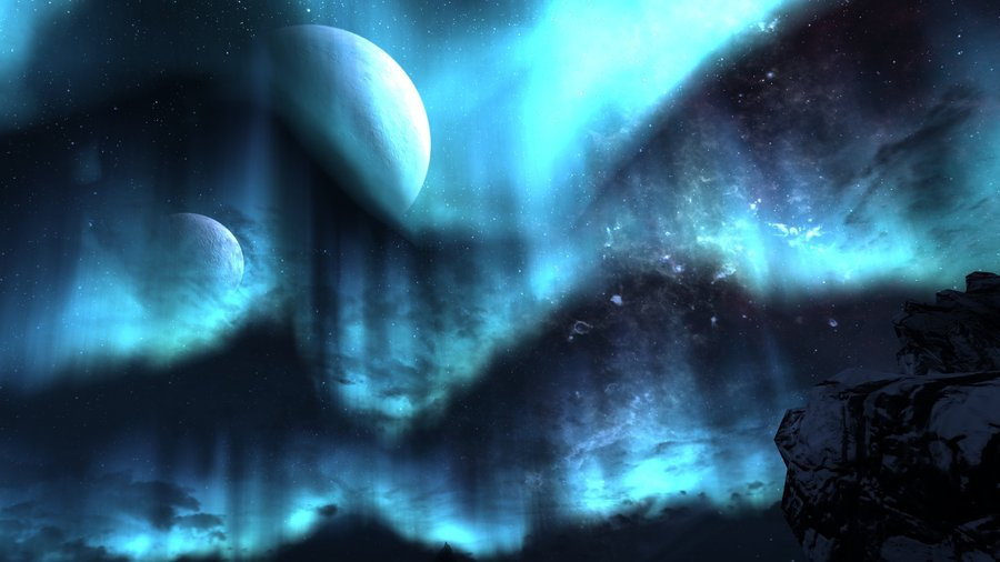Skyrim night sky by soapsim d52l6ai