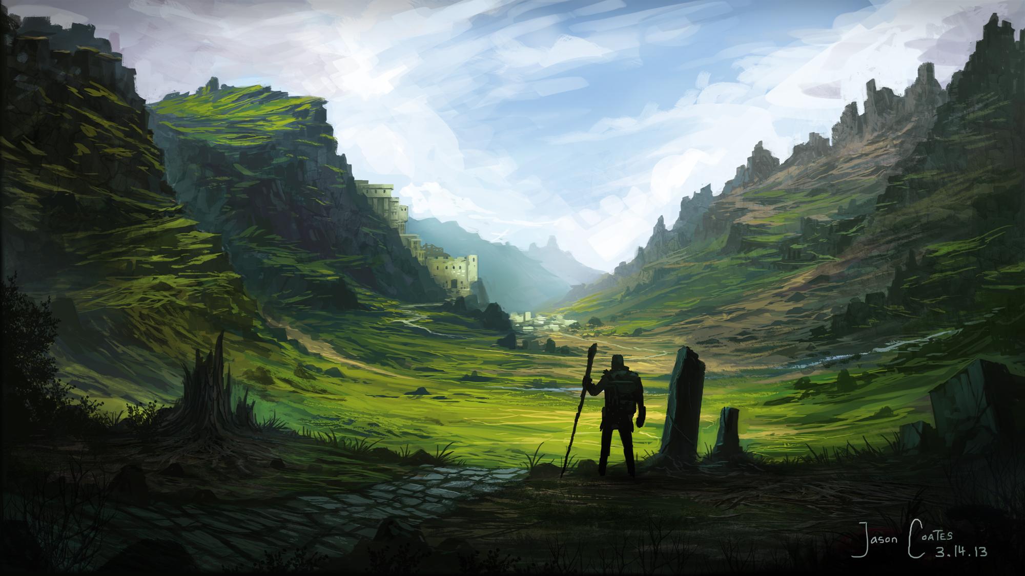 Llamareaper fantasy landscape 2