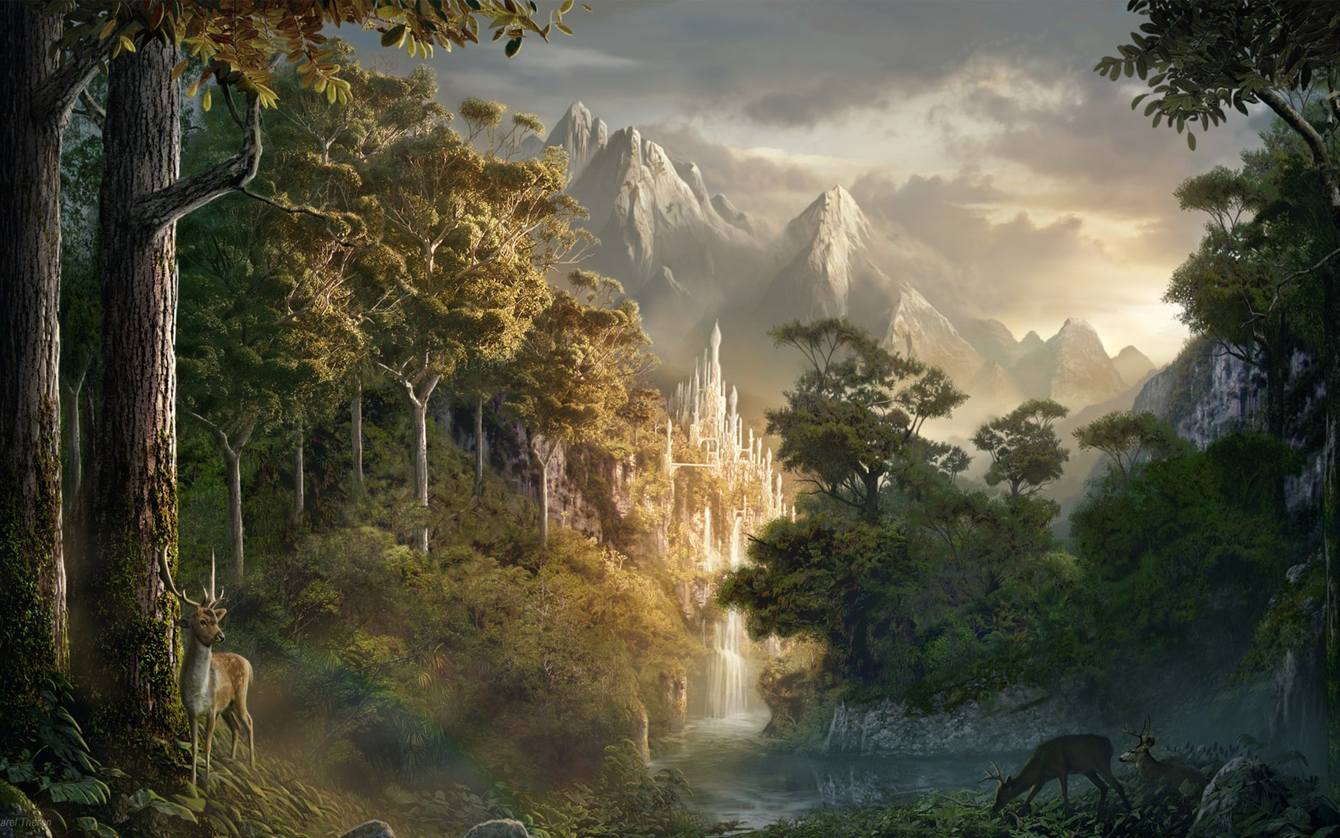 Fantasy art scenery by sarel theron