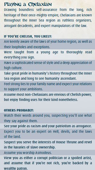 pathfinder chelaxian names