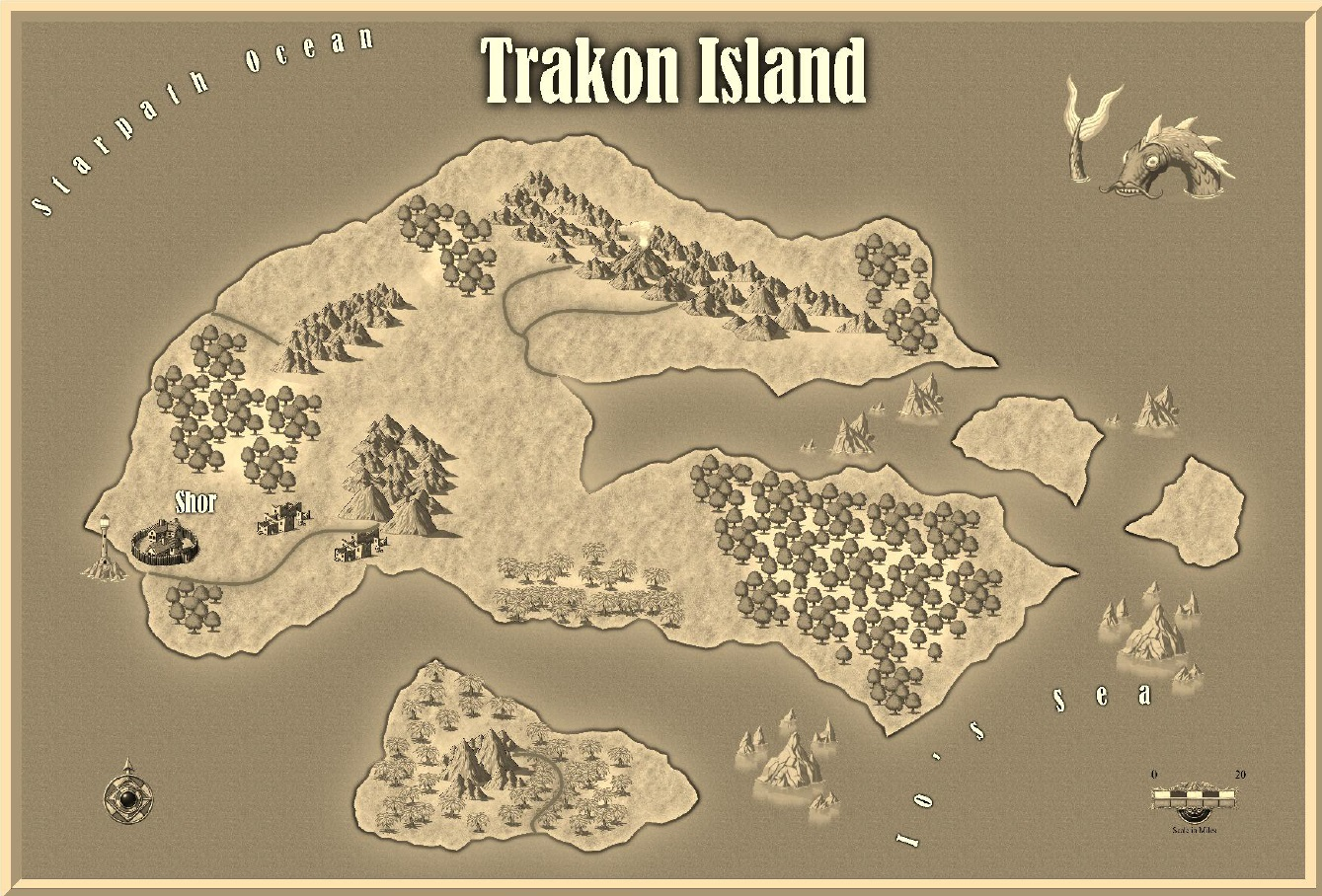 Island of trakon   player map