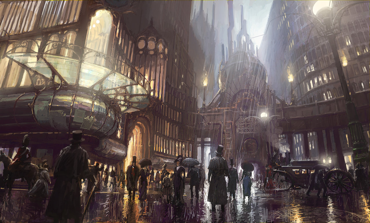 Steampunk city new