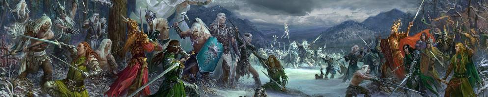 1600x522 5418 coming winter 2d fantasy winter battle elves warriors picture image digital art