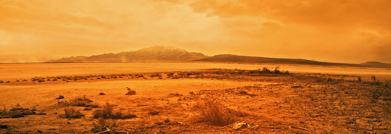 Dry desert wasteland