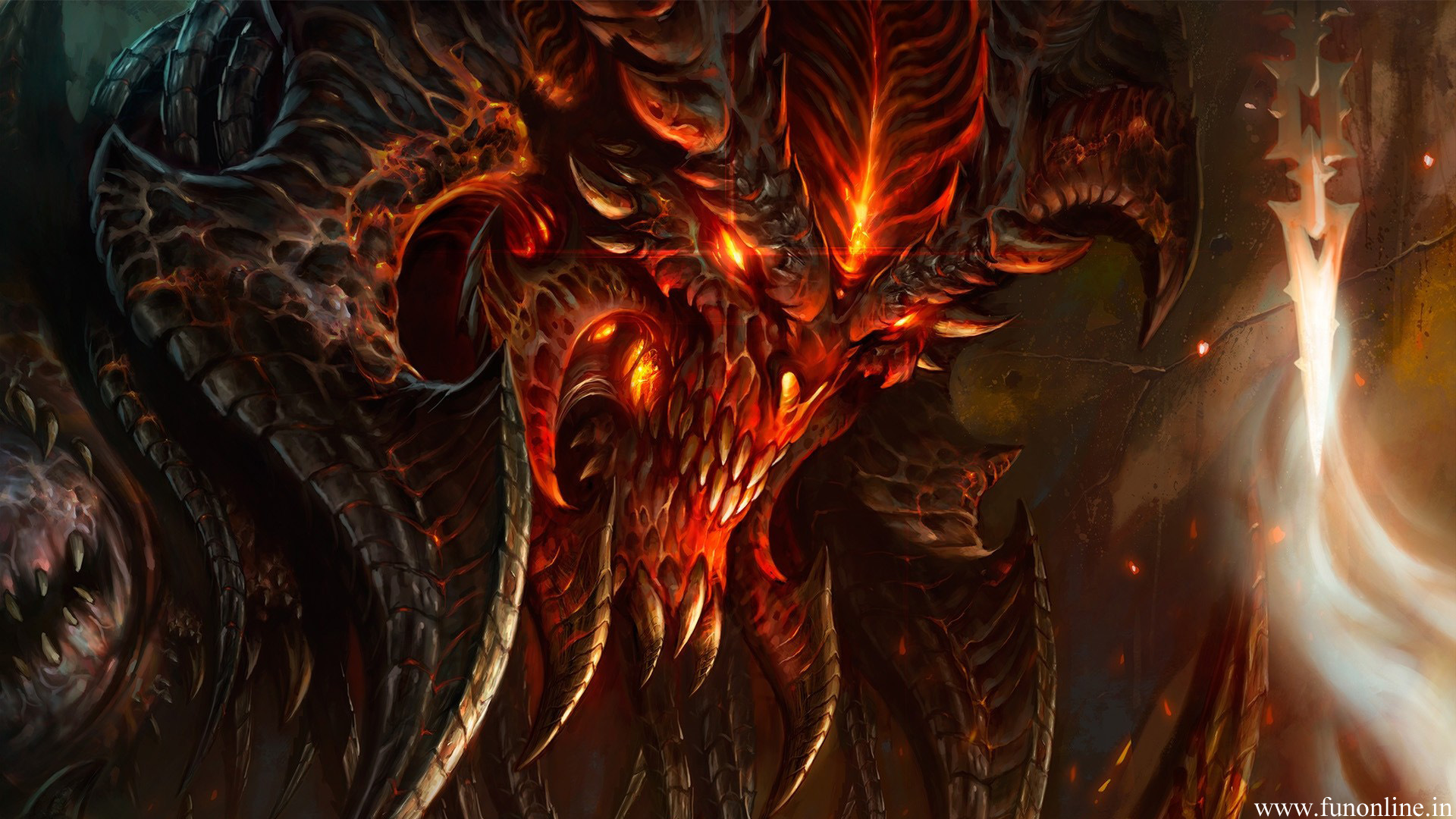 Evil demon in diablo game wallpaper