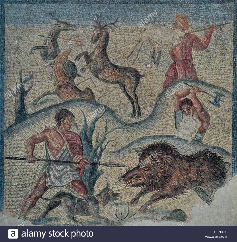 roman-hunting-party-2nd-century-bc-HRNRJX.jpg