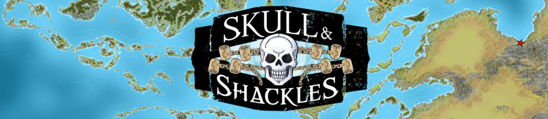 Skull and shackles banner