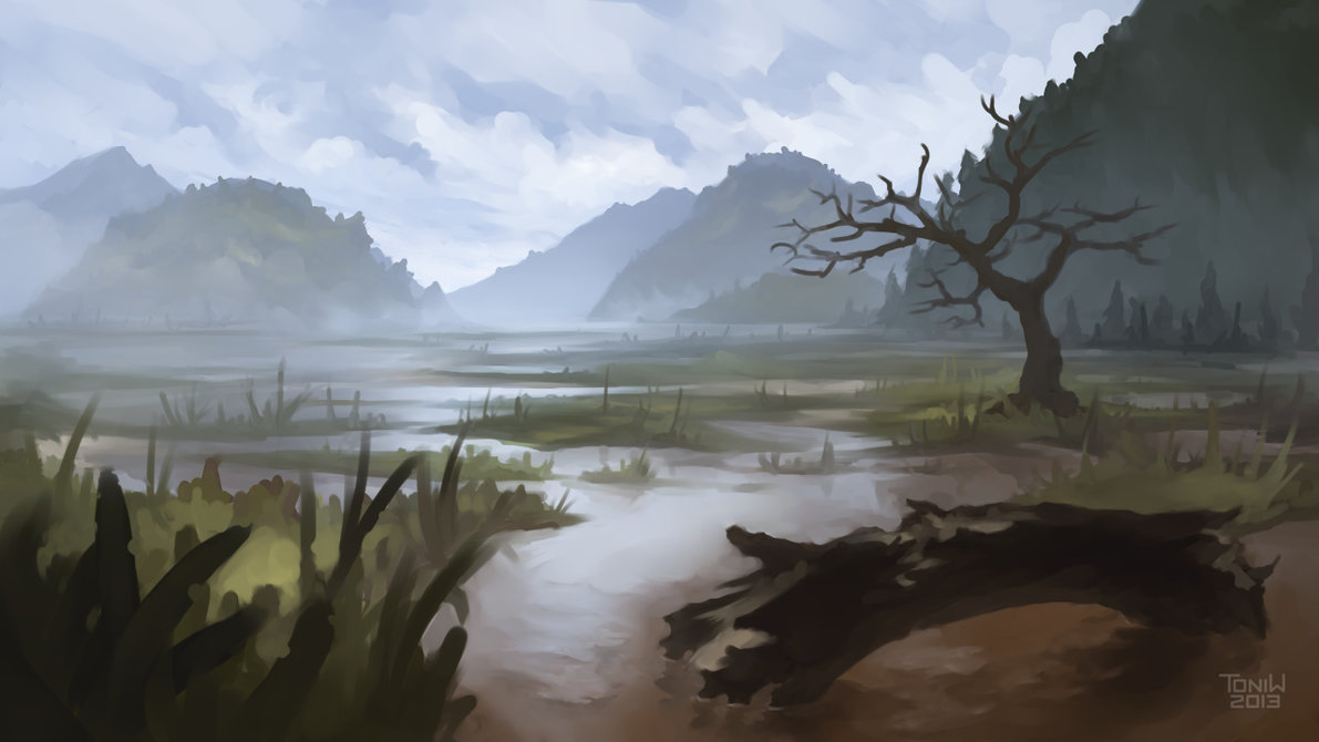 2013 02 swamp landscape by toniw d5vtbaf