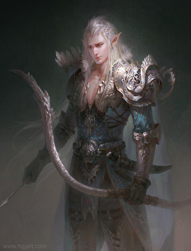 Fantasy Art Male Elven Knight