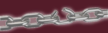 Broken chain link 182142