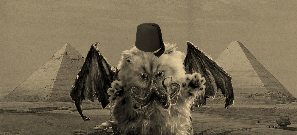 Raiders of the lost bark catthulhu fez