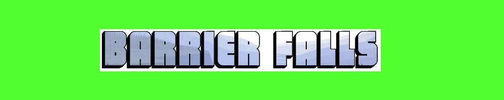 Barrier falls banner