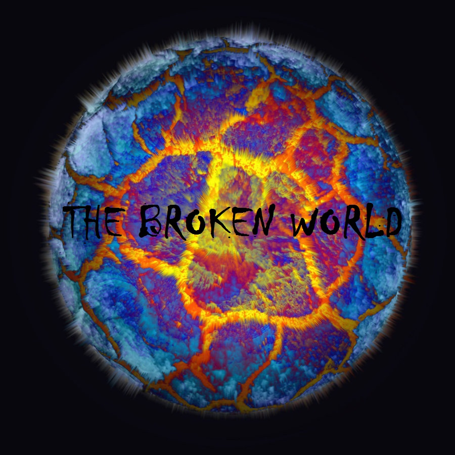 The broken world logo