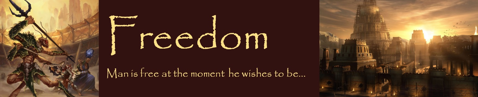 Freedom banner