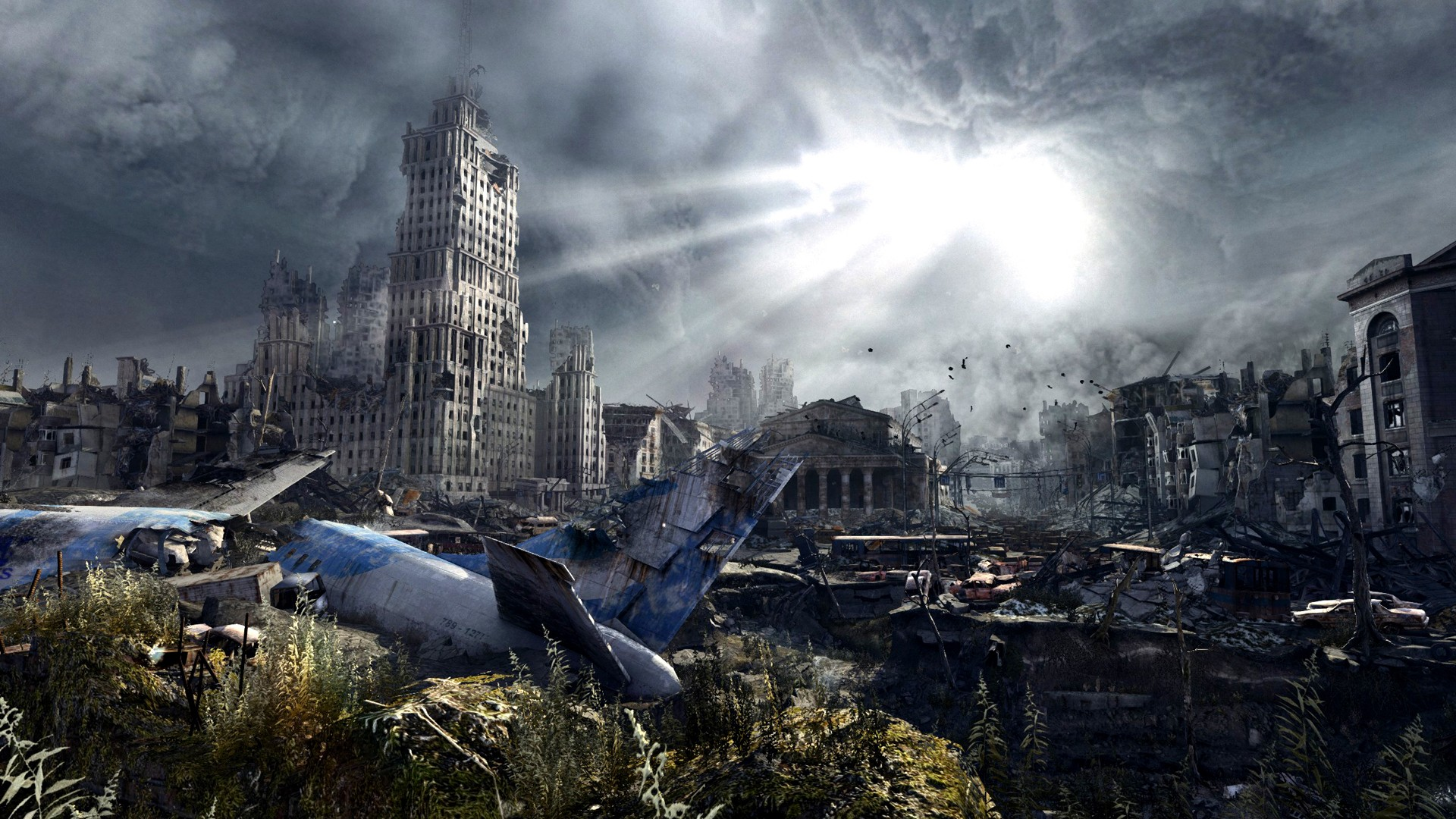 Post apocalyptic city desktop wallpaper