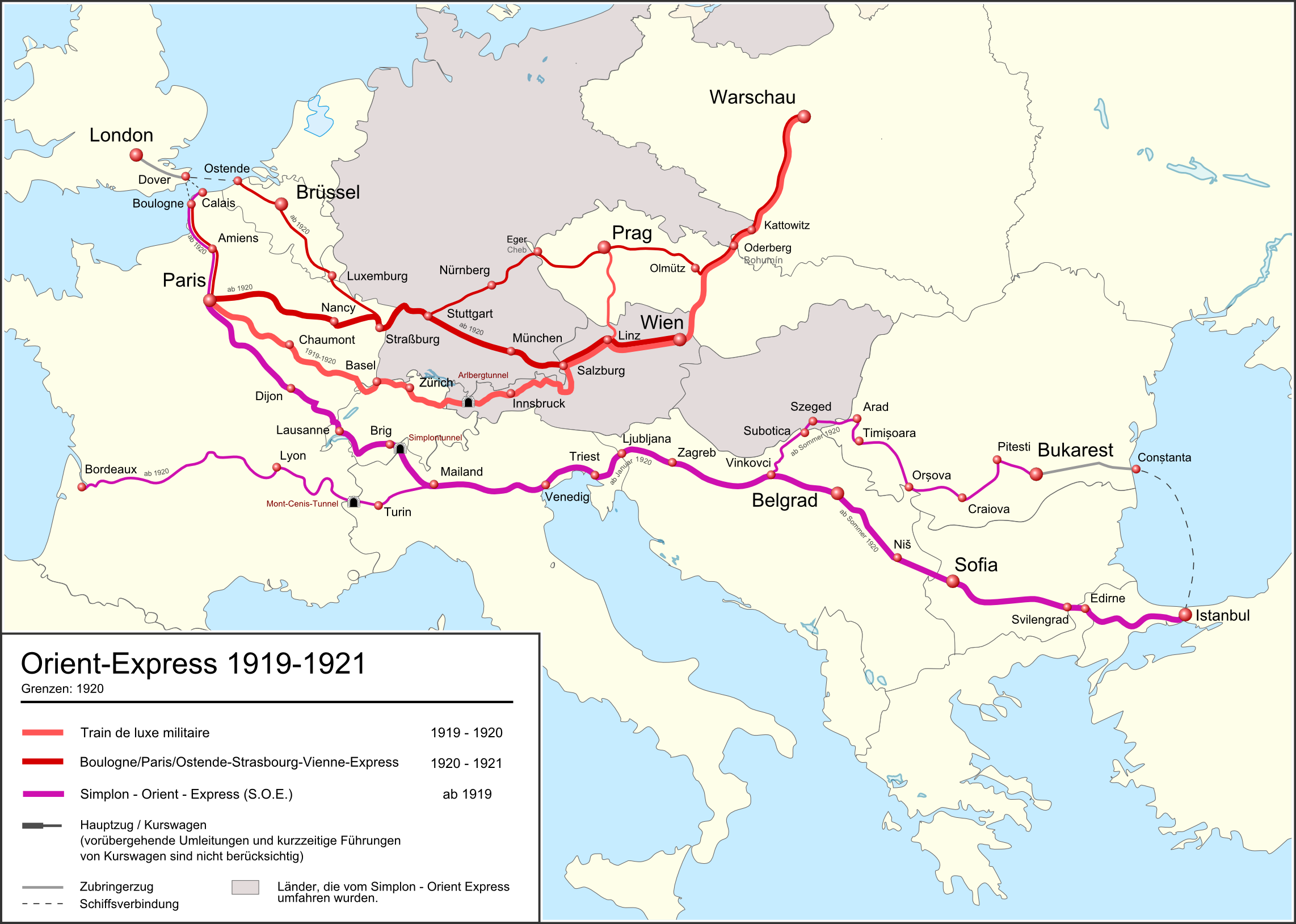 Image result for route of the orient express