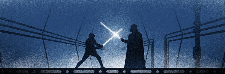 Star wars empire strikes back banner