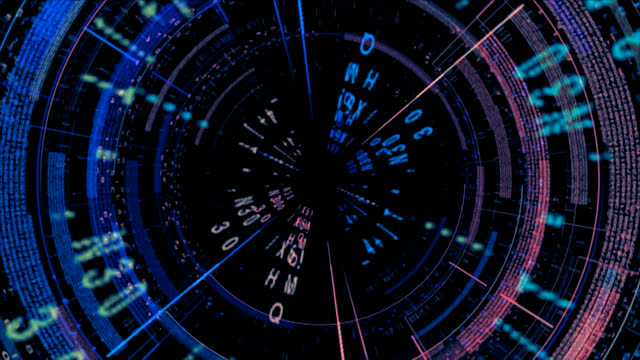 Stock video 7888976 futuristic computer screen animation
