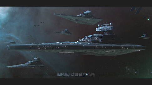 Star wars destroyer banner