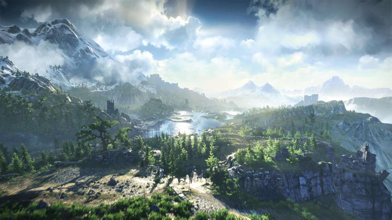 Witcher 3 wild hunt landscape world setting