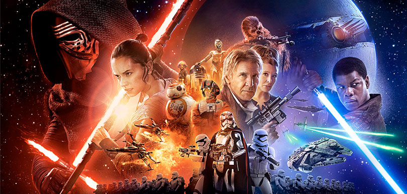 Star wars the force awakens horizontal poster header