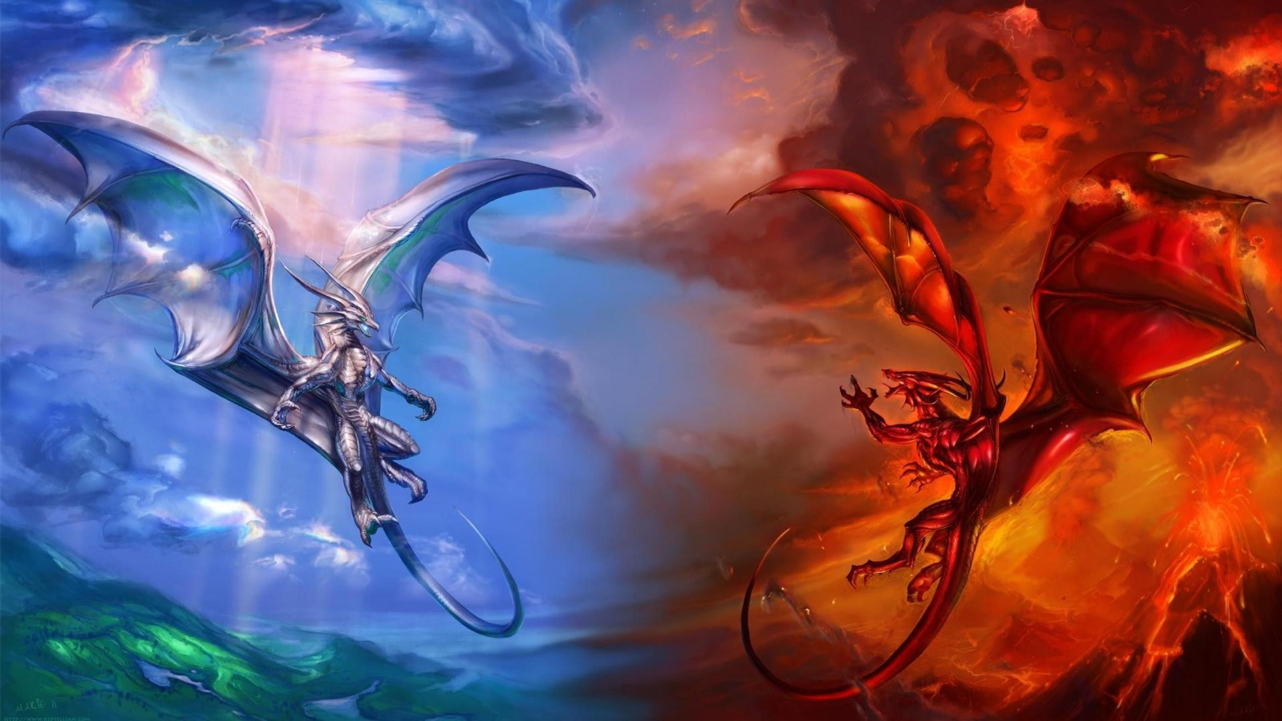 Fire dragon awesome best 2560x1440 wallpaper85517