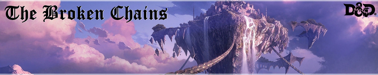 Broken chains banner