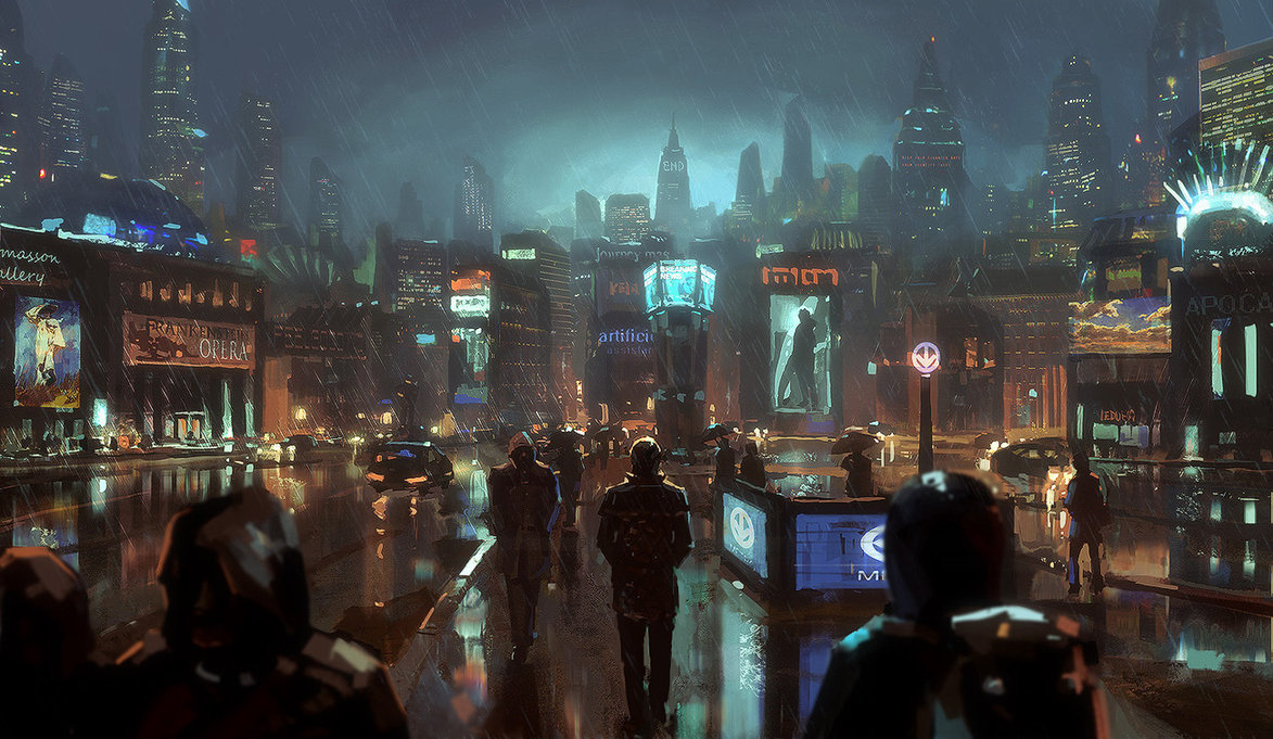 Cyber punk wallpaper desktop hd