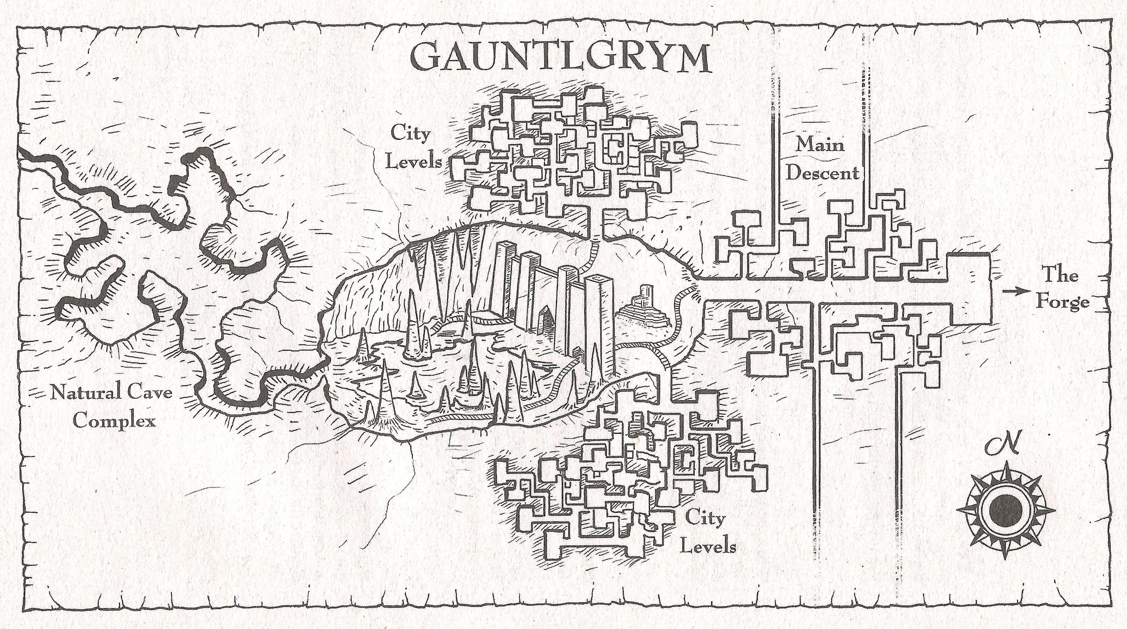 Gauntlygrym map