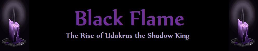 Black flame banner