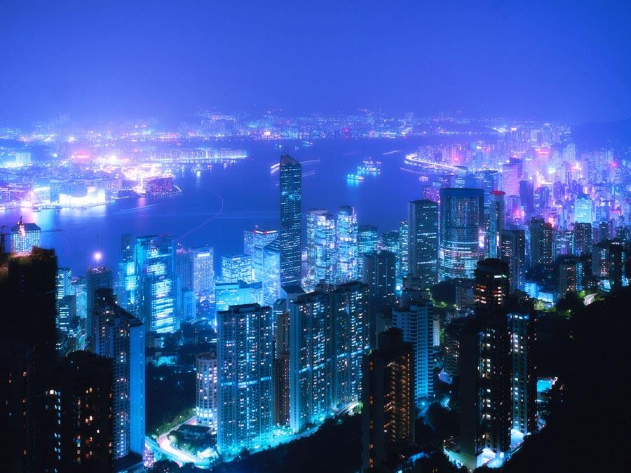 Hong kong blue
