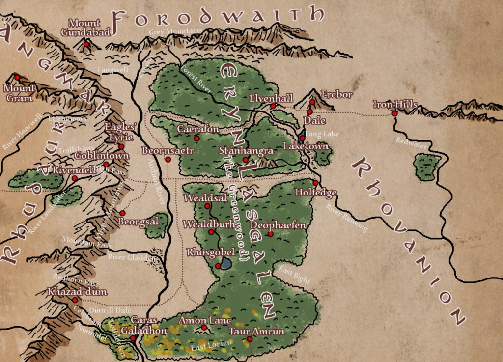 Fourth age player s map wilderland