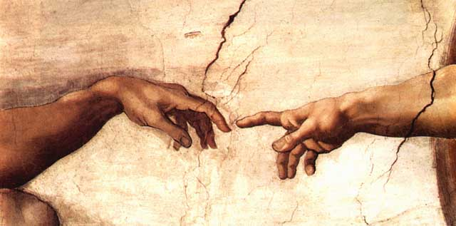 Michaelangelos creation of adam