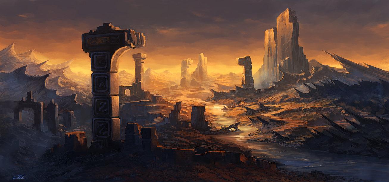 Landscape of the desert by vennom07 d5e42mp