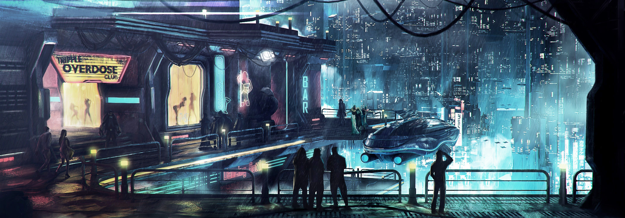 Cyberpunk district by macfixed d7jz0f3