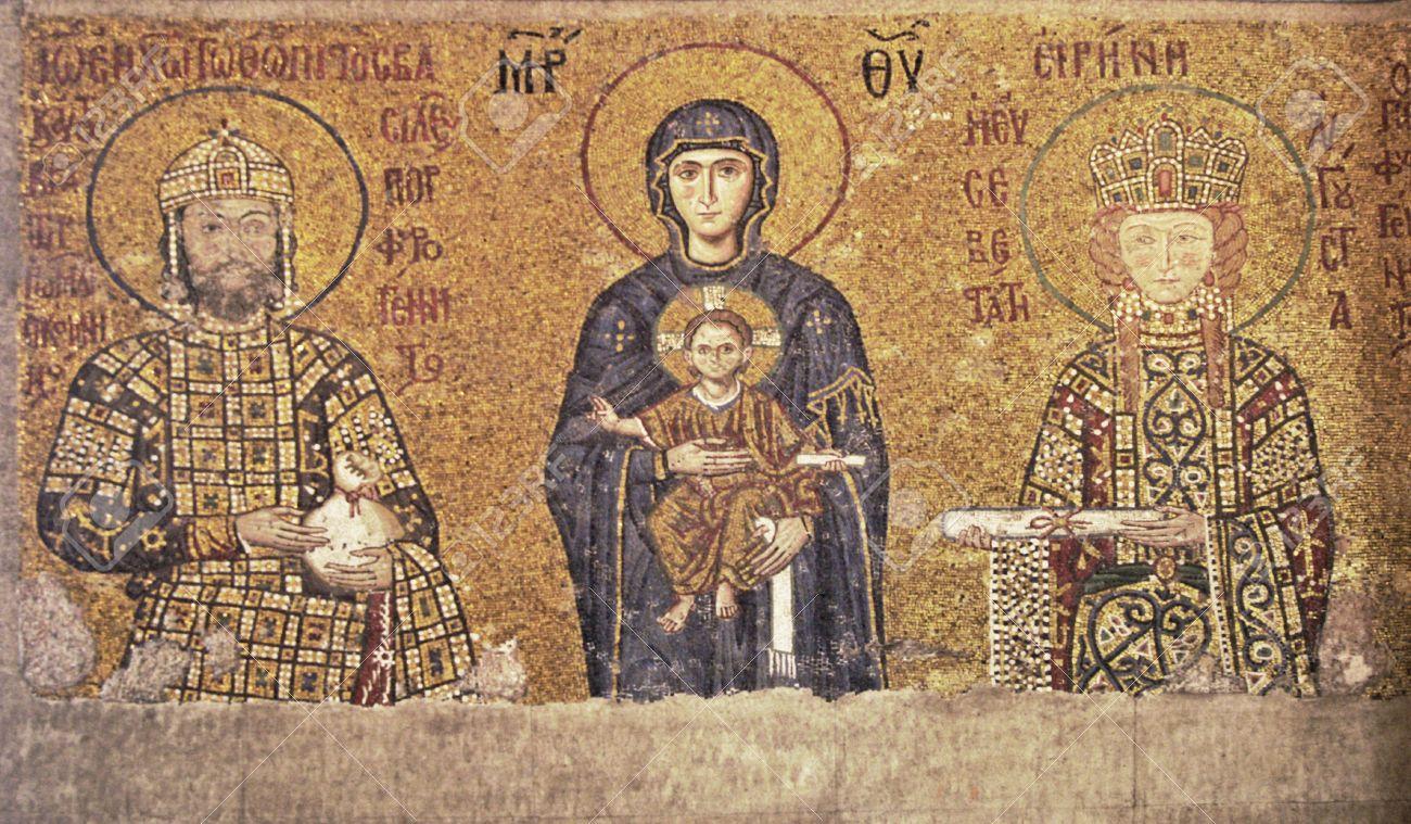 12240532 mosaico bizantino del siglo 13 en la iglesia de santa sof a en estambul turqu a foto de archivo