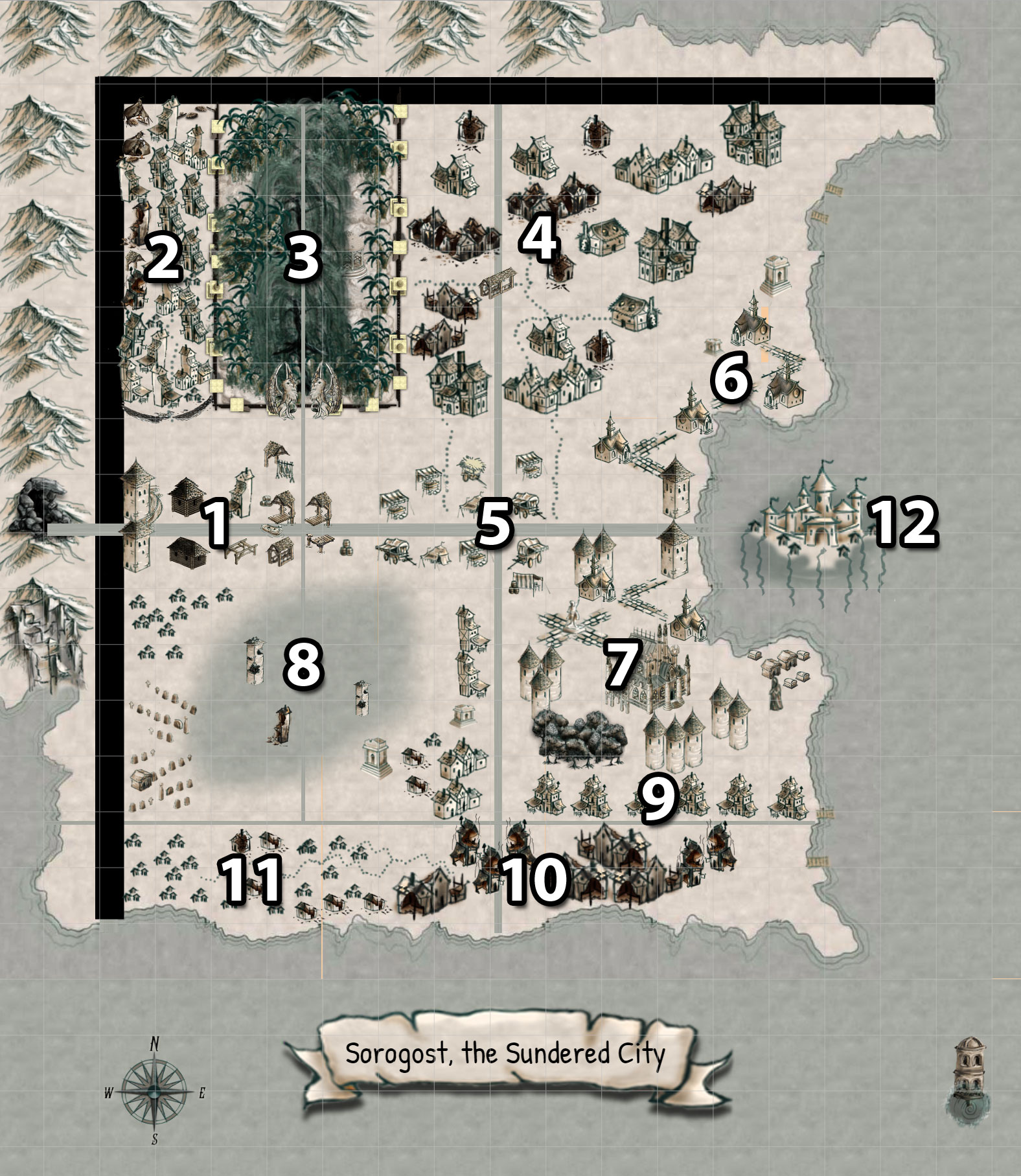 Map of Sorogost - by Dean