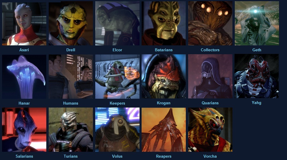 Races of Mass Effect