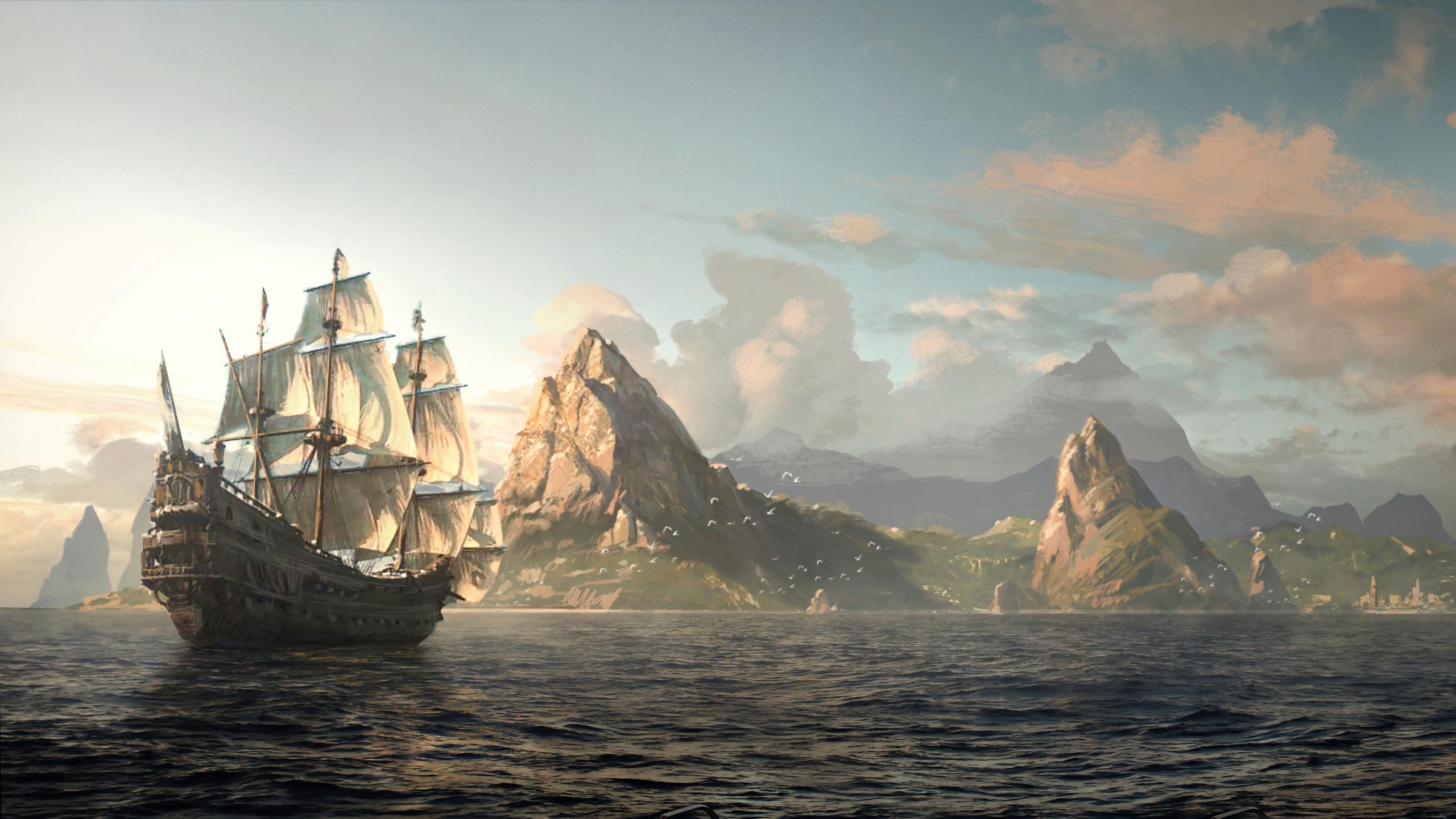 Assassins creed iv black flag assassin pirate edward kenway 95415 2560x1440