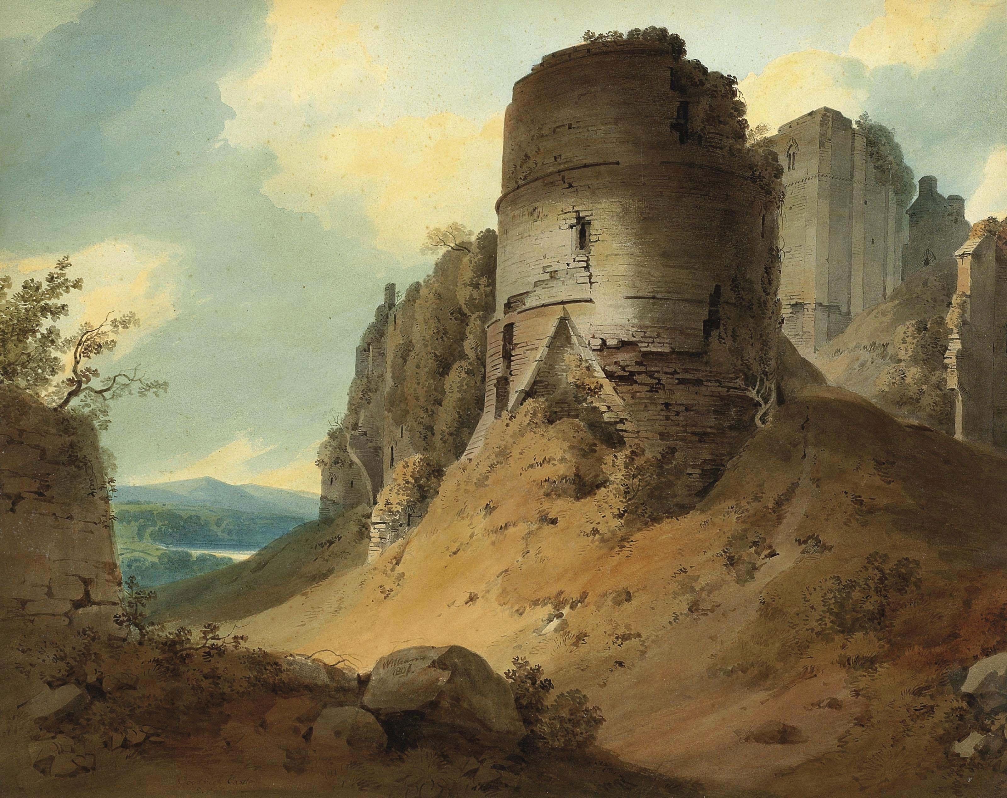 Hugh william  grecian  williams   goodrich castle