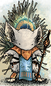 A mouse in traditional Copperwood regalia