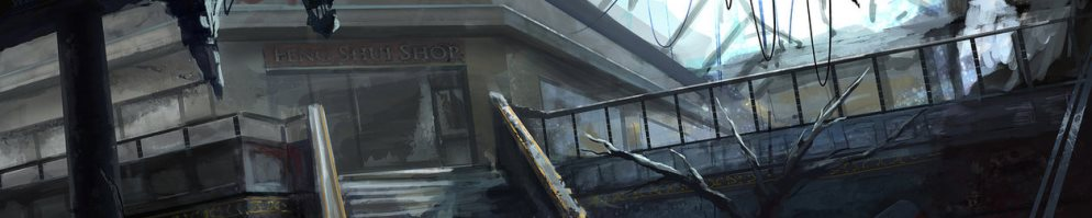 Abandoned mall banner