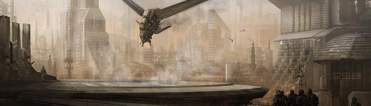 Dune ornithopters landing markmolnar 2