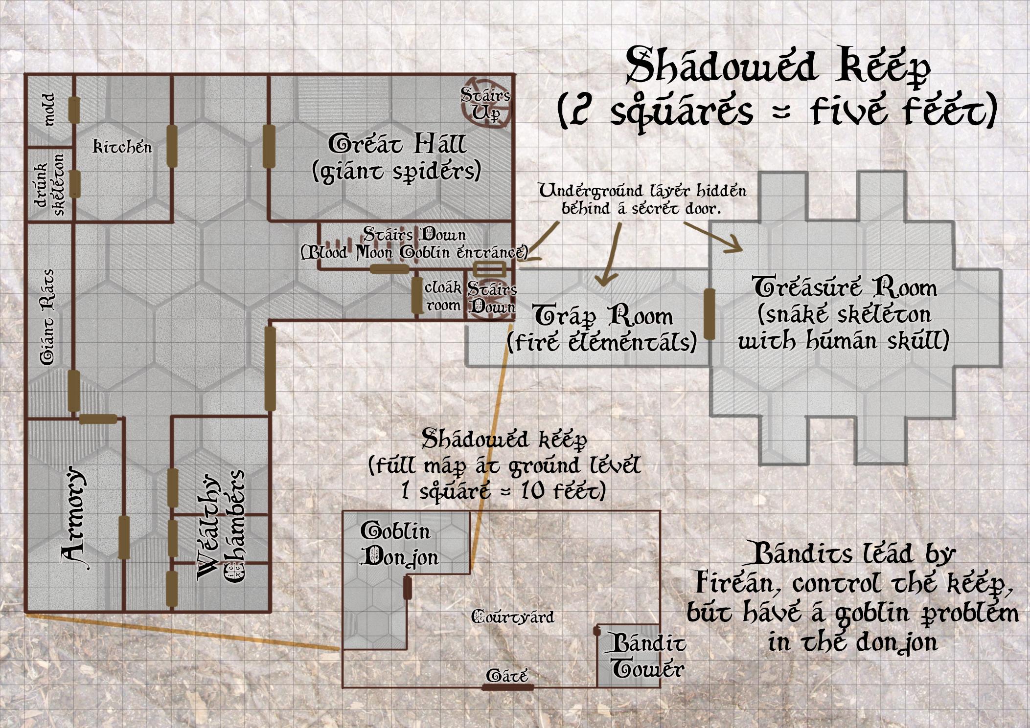 Shadowed Keep ground floor