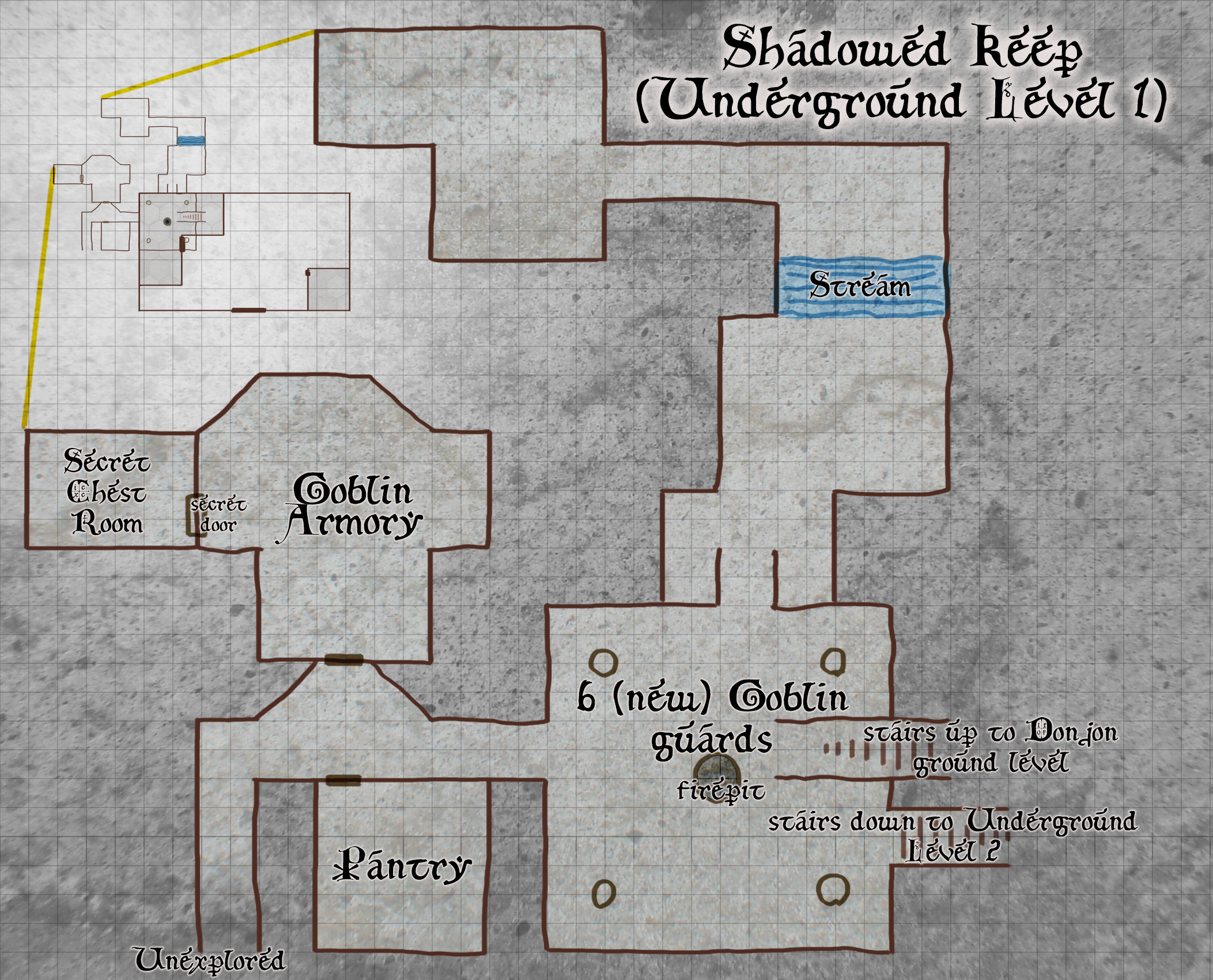 Shadowed Keep - Underground Level 1